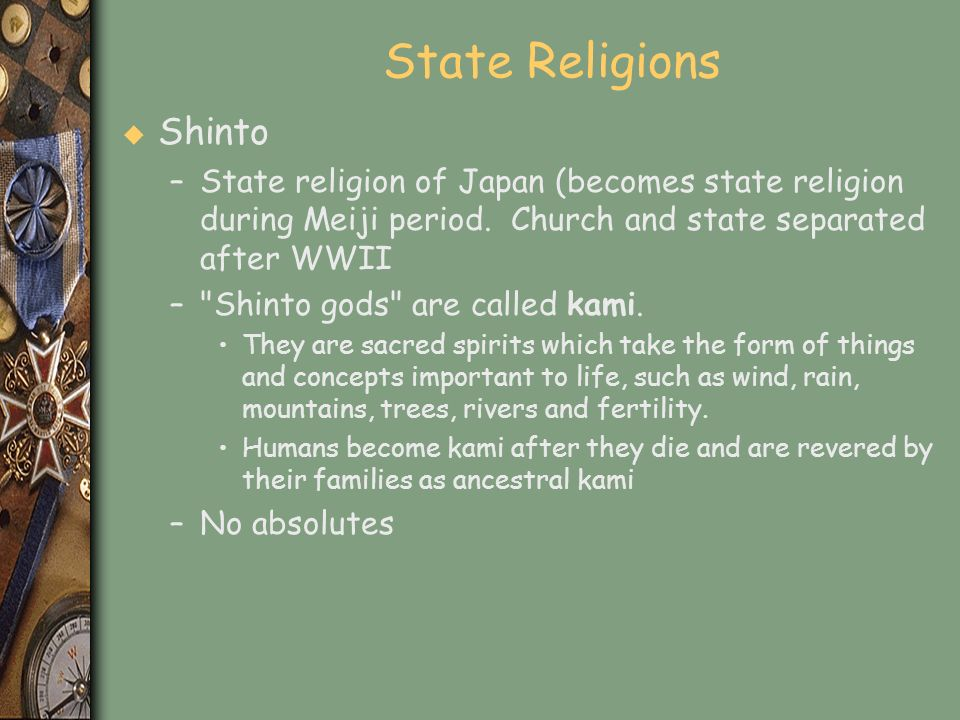State Religions Shinto