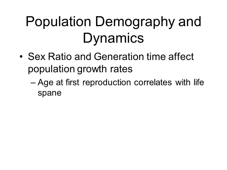 Population Demography and Dynamics