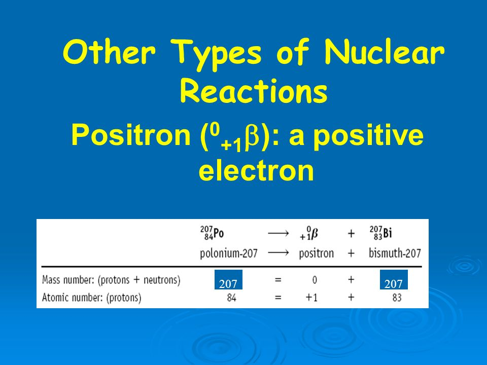Other Types of Nuclear Reactions