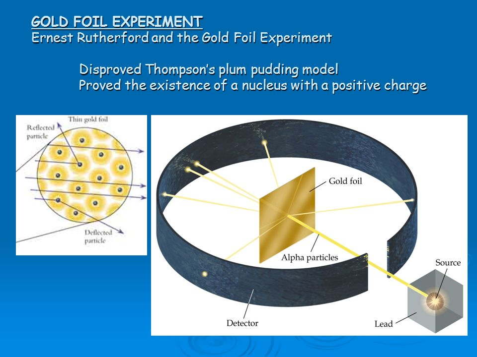 GOLD FOIL EXPERIMENT Ernest Rutherford and the Gold Foil Experiment