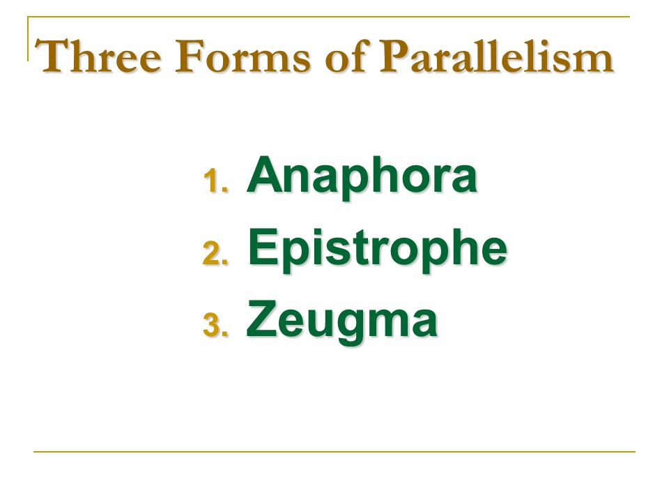 Three Forms of Parallelism