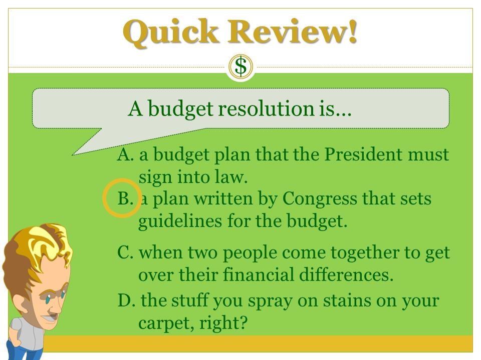 A budget resolution is…
