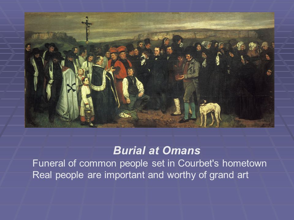 Burial at Omans Funeral of common people set in Courbet s hometown
