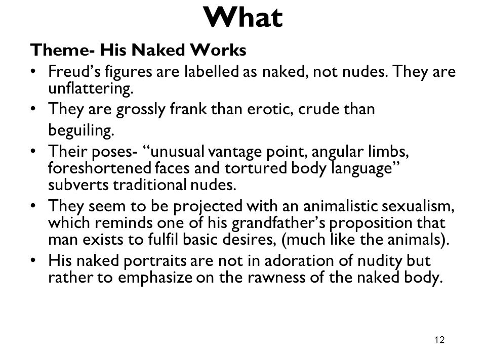 What Theme- His Naked Works