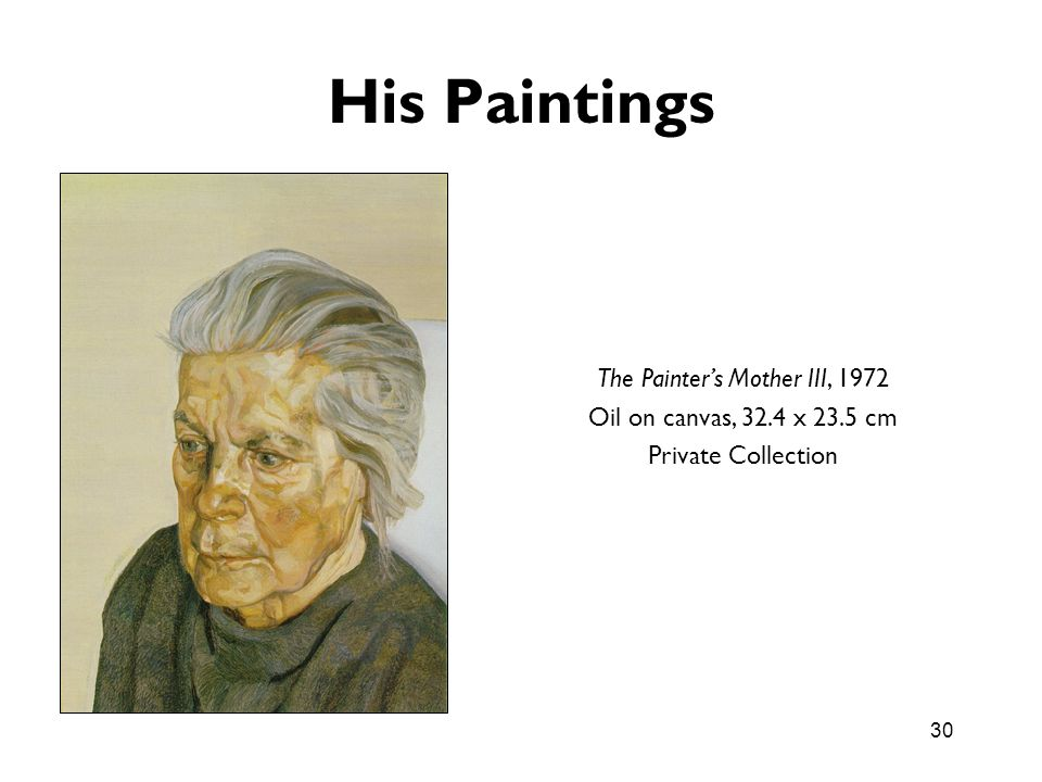The Painter's Mother III, 1972