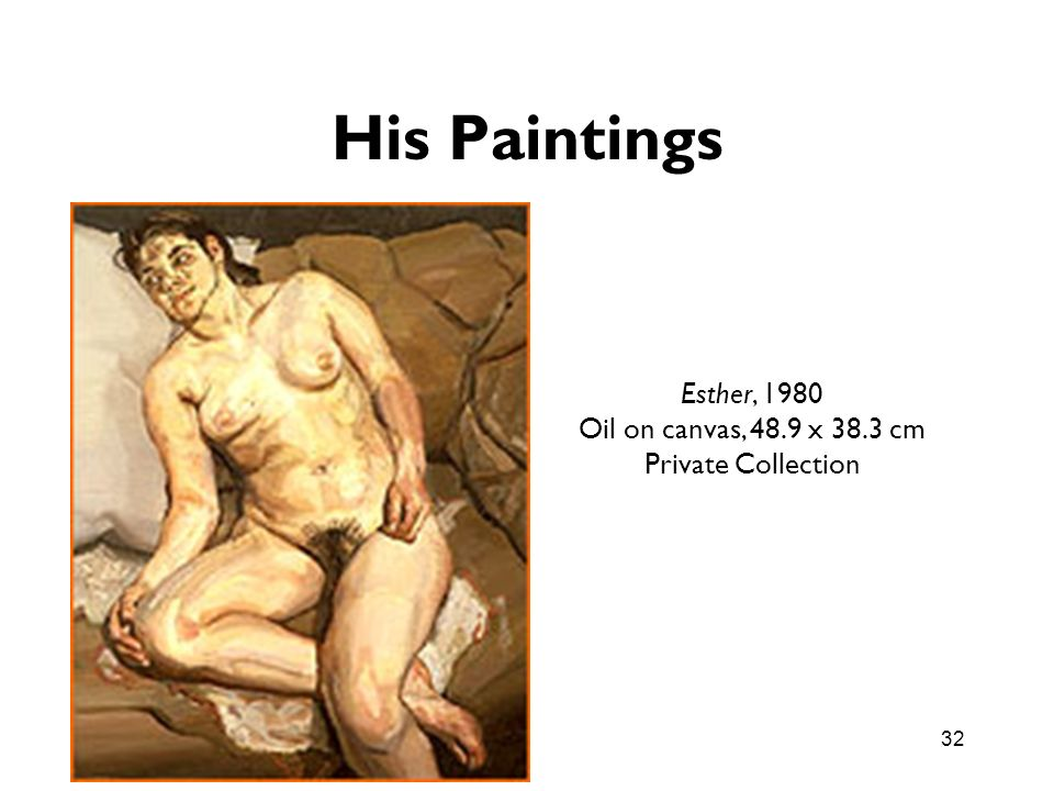 His Paintings Esther, 1980 Oil on canvas, 48.9 x 38.3 cm