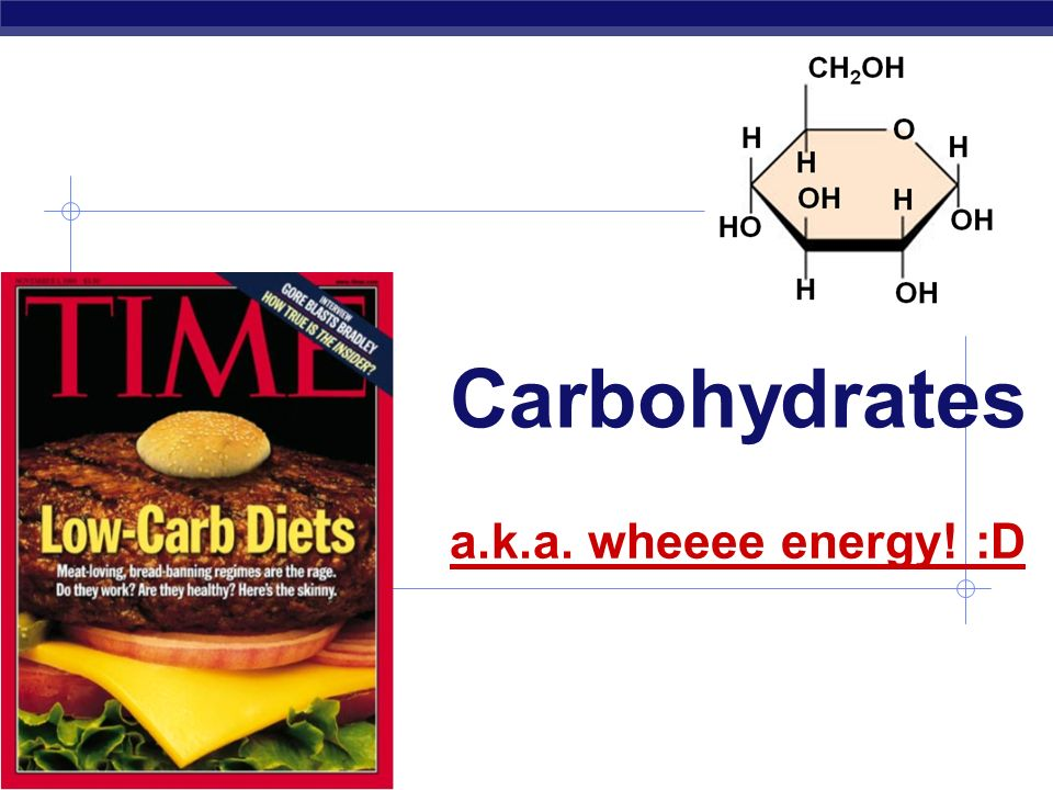 Carbohydrates a.k.a. wheeee energy! :D