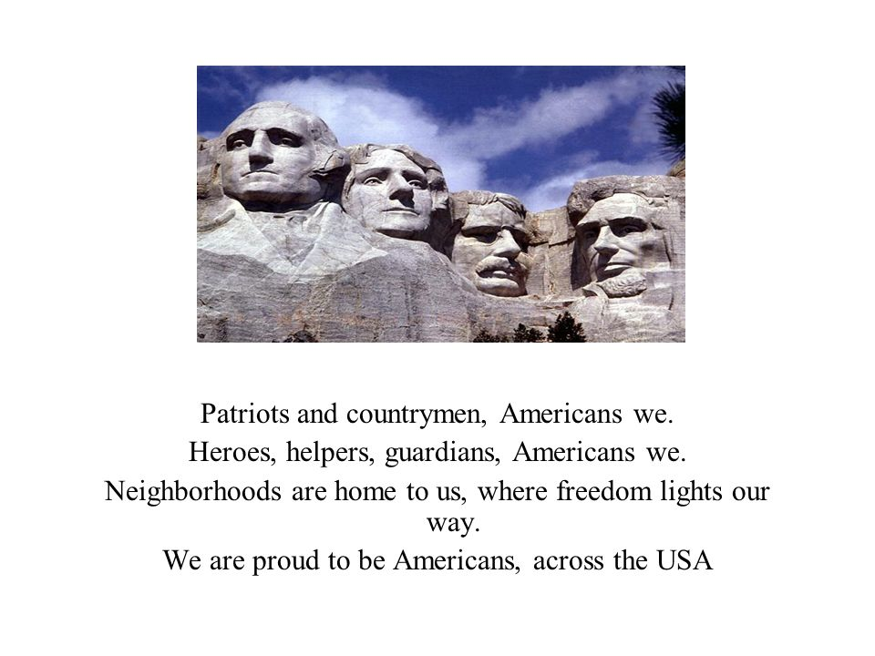 Patriots and countrymen, Americans we.