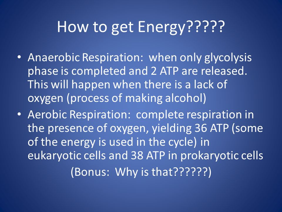 How to get Energy
