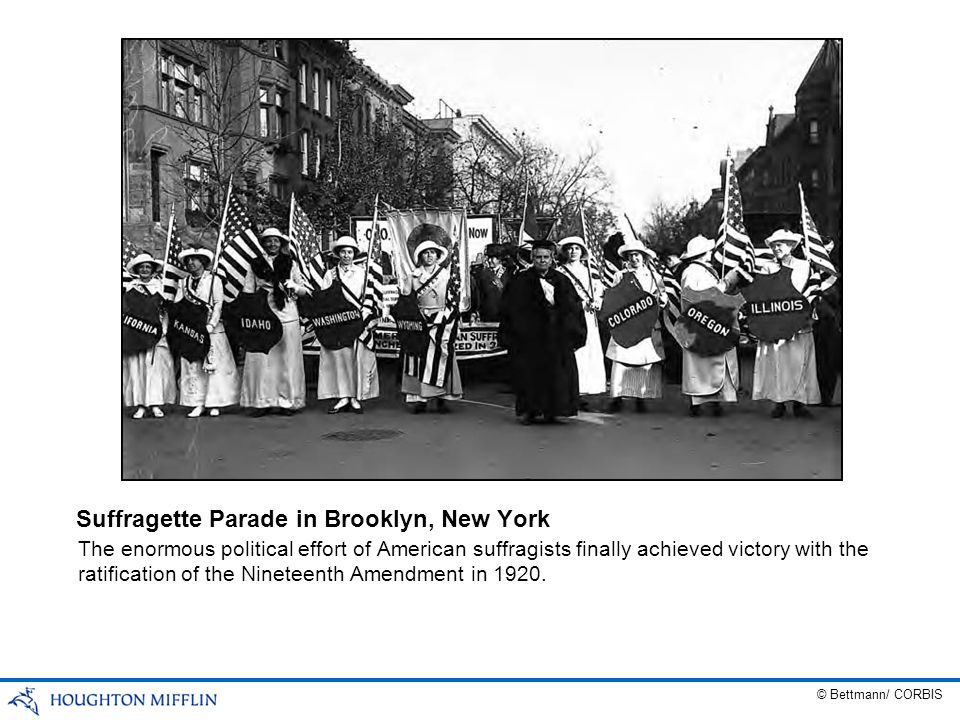 Suffragette Parade in Brooklyn, New York