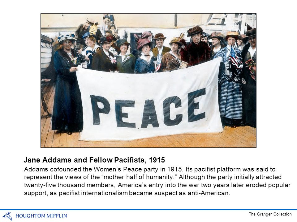 Jane Addams and Fellow Pacifists, 1915