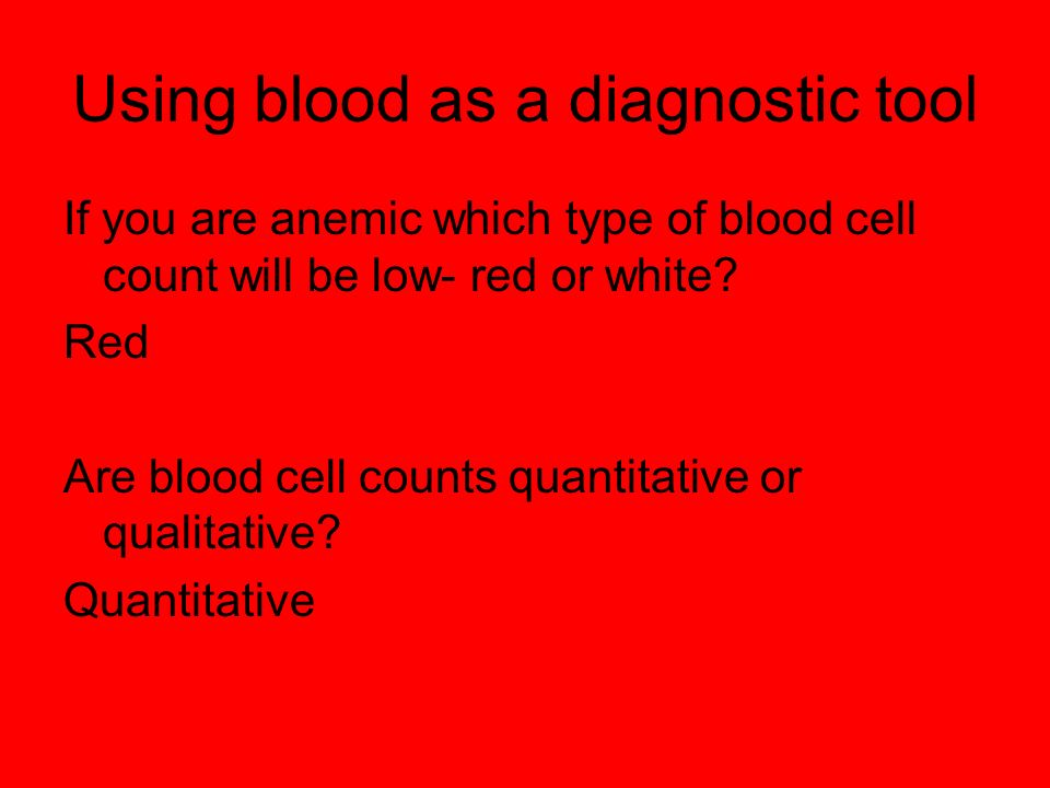 Using blood as a diagnostic tool