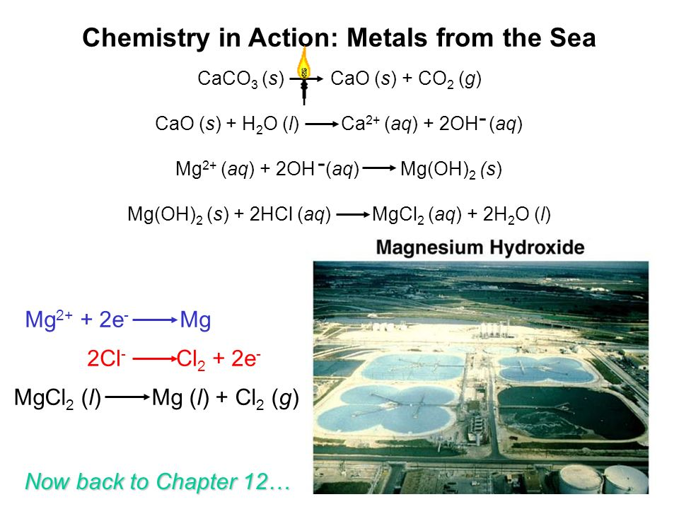Chemistry in Action: Metals from the Sea