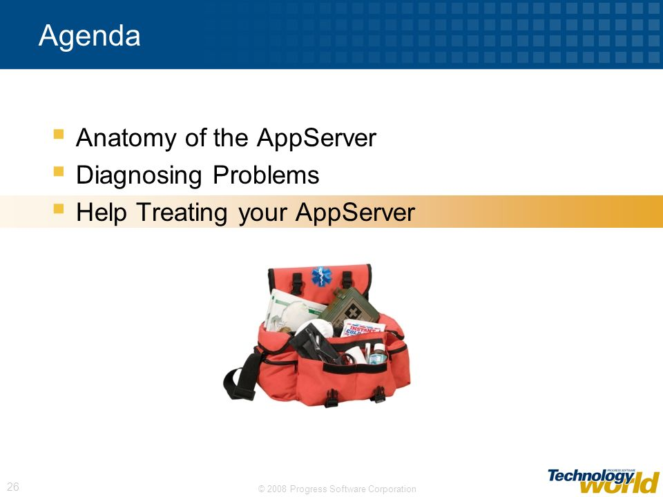 Agenda Anatomy of the AppServer Diagnosing Problems