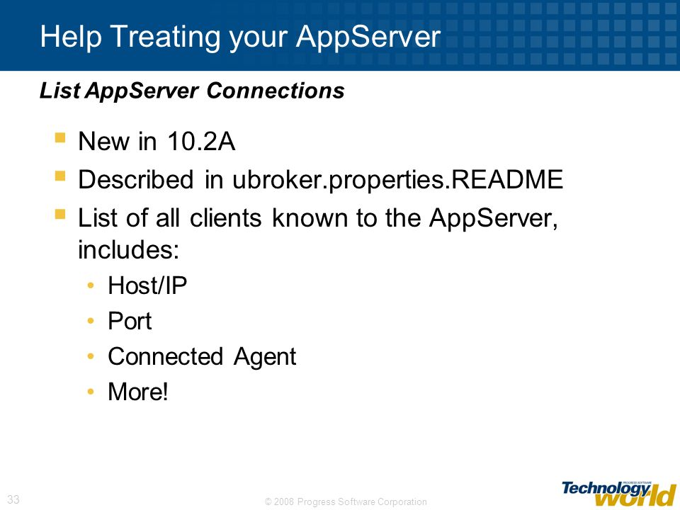 Help Treating your AppServer