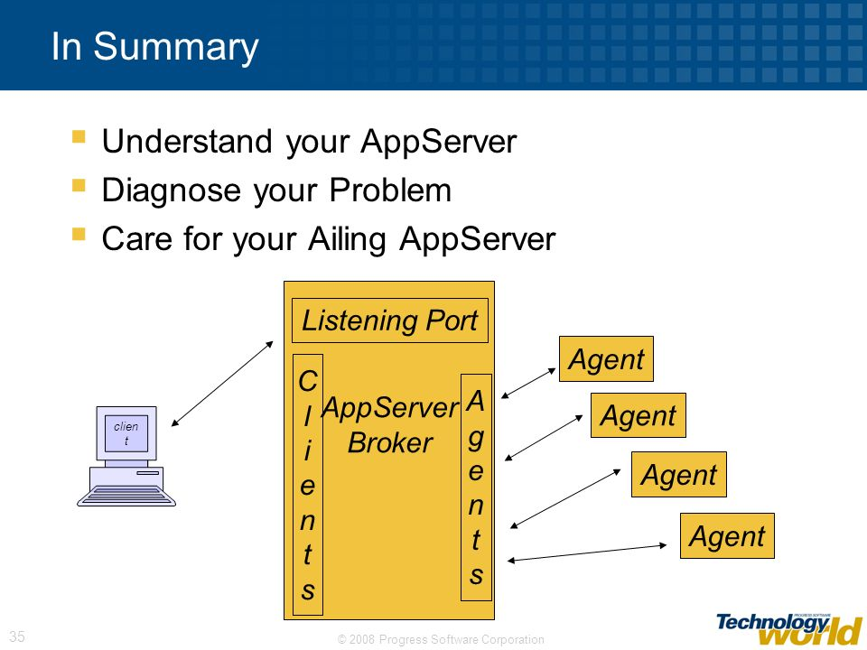 In Summary Understand your AppServer Diagnose your Problem