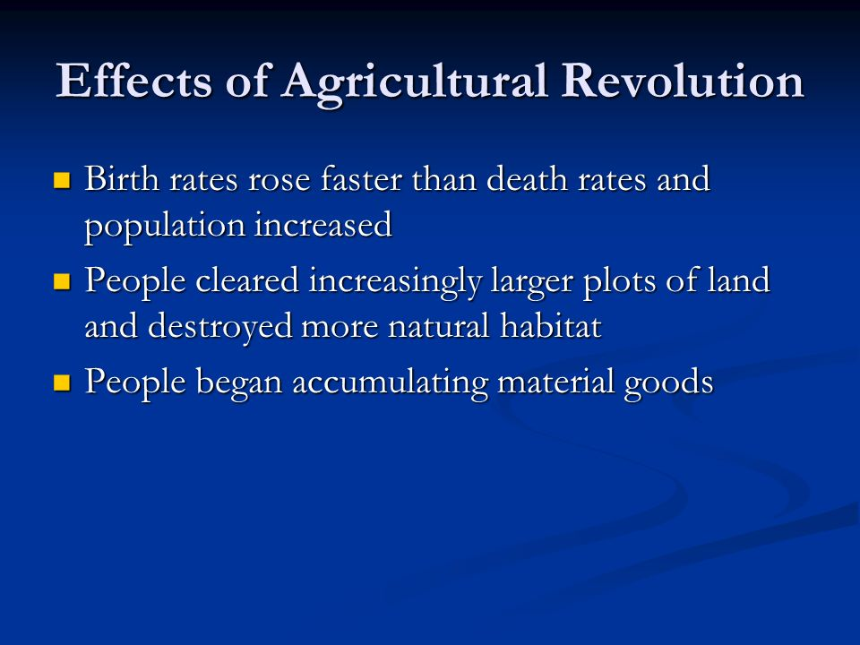 Effects of Agricultural Revolution