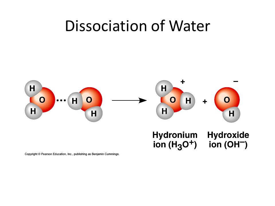 Dissociation of Water