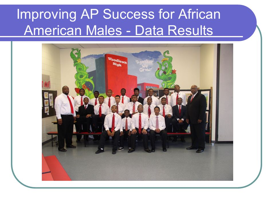 Improving AP Success for African American Males - Data Results