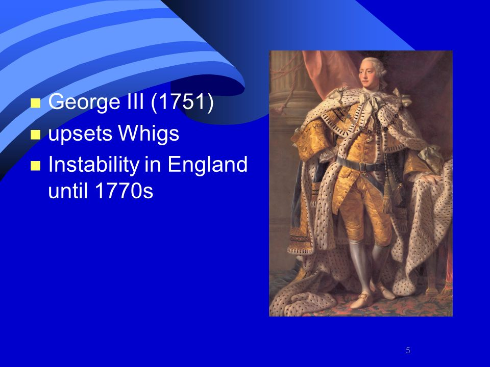 Instability in England until 1770s