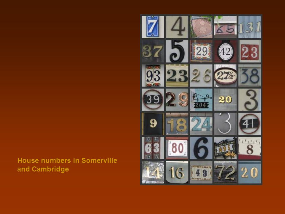 House numbers in Somerville and Cambridge