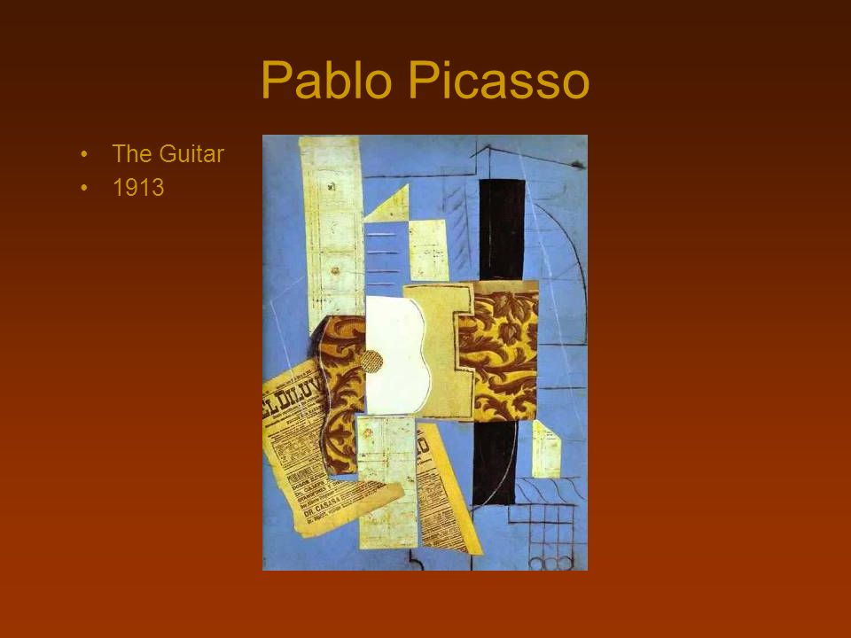 Pablo Picasso The Guitar 1913