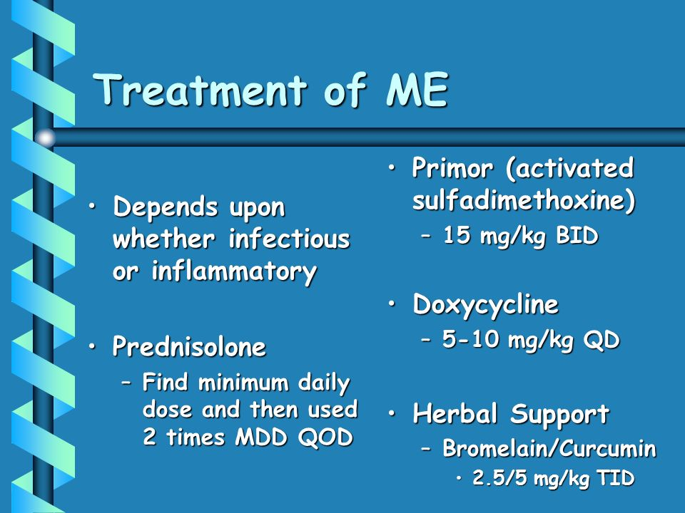 Treatment of ME Primor (activated sulfadimethoxine)