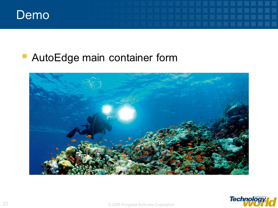 Demo AutoEdge main container form