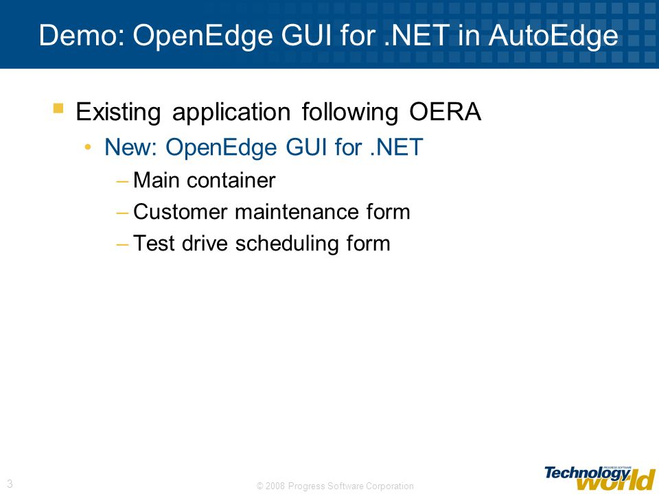 Demo: OpenEdge GUI for .NET in AutoEdge