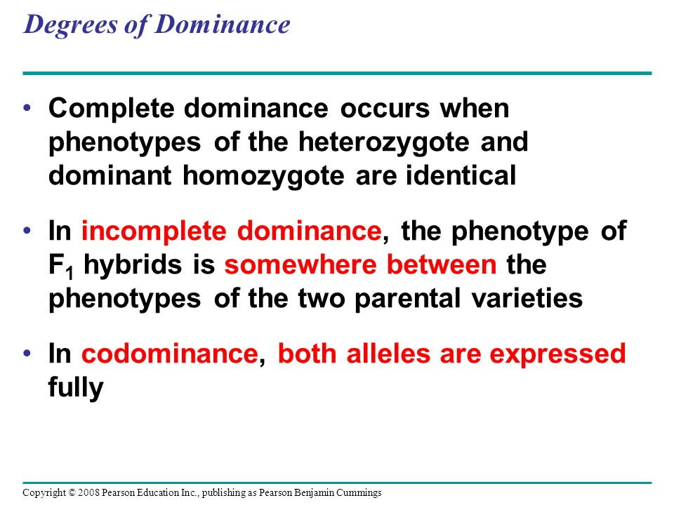 In codominance, both alleles are expressed fully