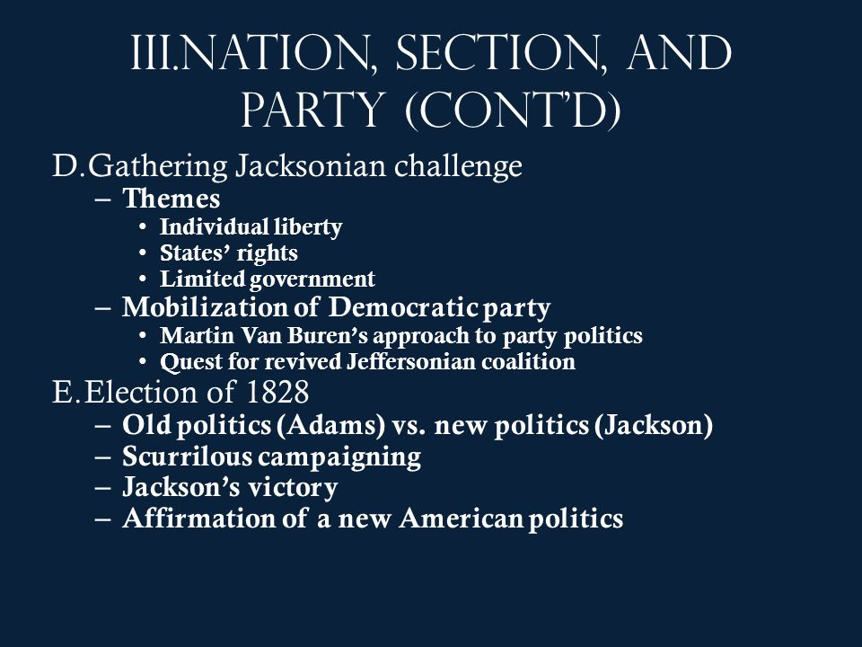 Nation, section, and party (cont'd)