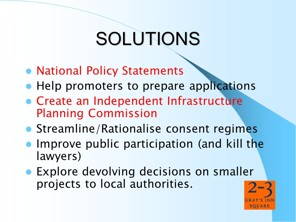 SOLUTIONS National Policy Statements