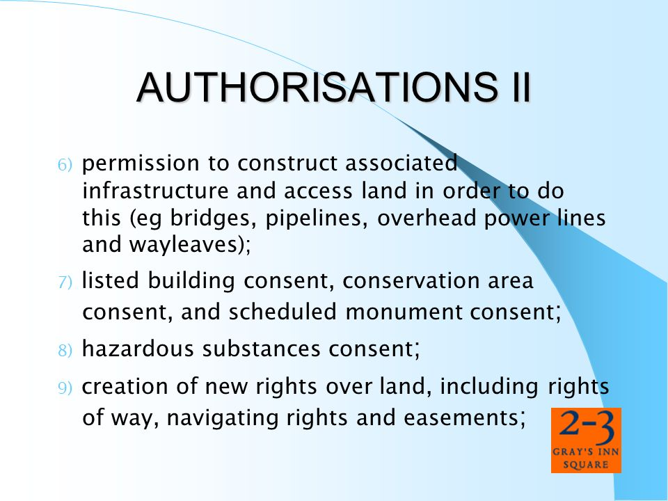 AUTHORISATIONS II