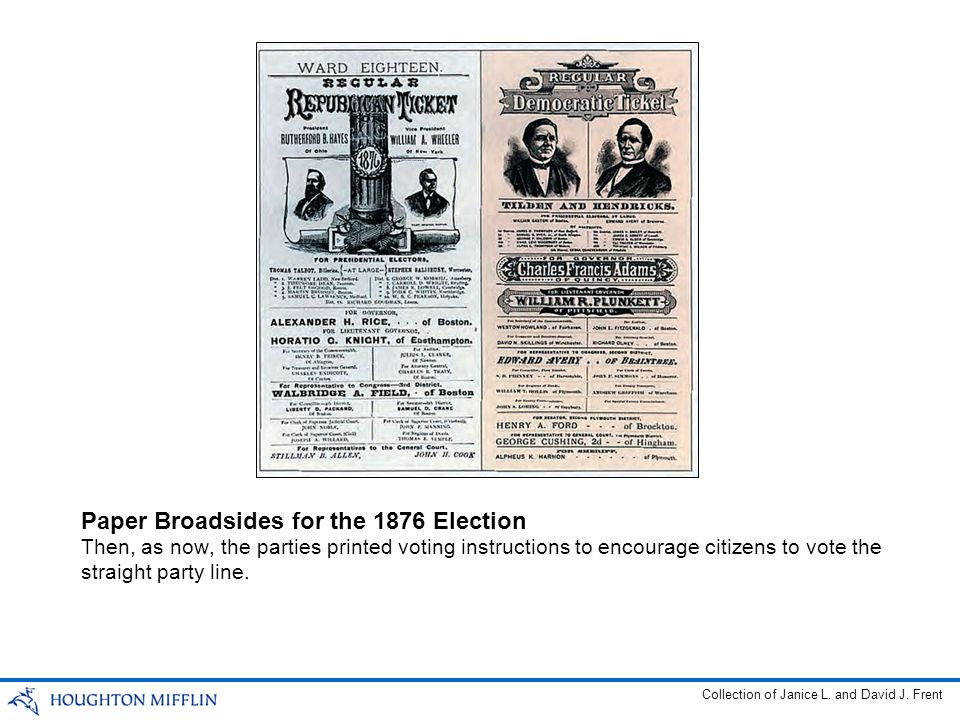 Paper Broadsides for the 1876 Election