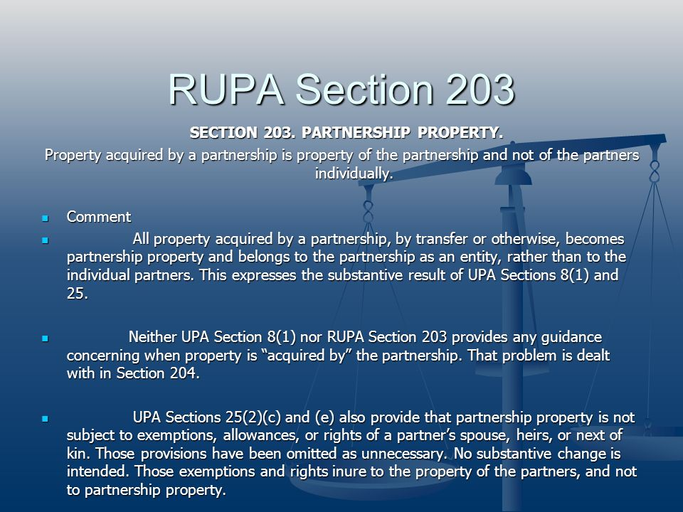 SECTION 203. PARTNERSHIP PROPERTY.