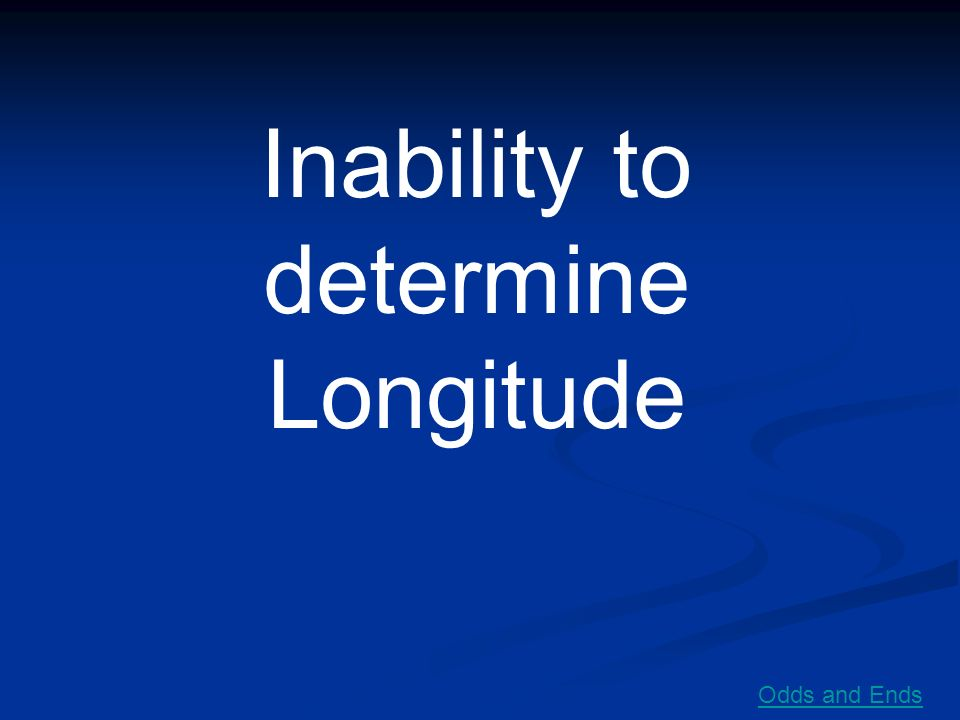 Inability to determine Longitude