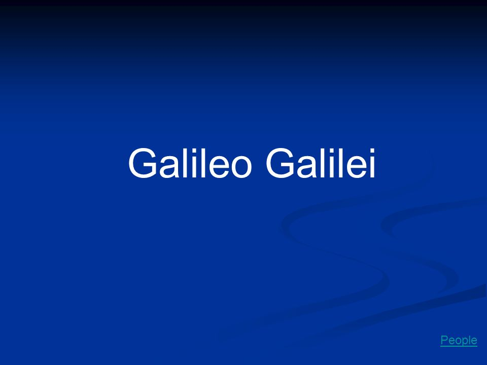 Galileo Galilei People