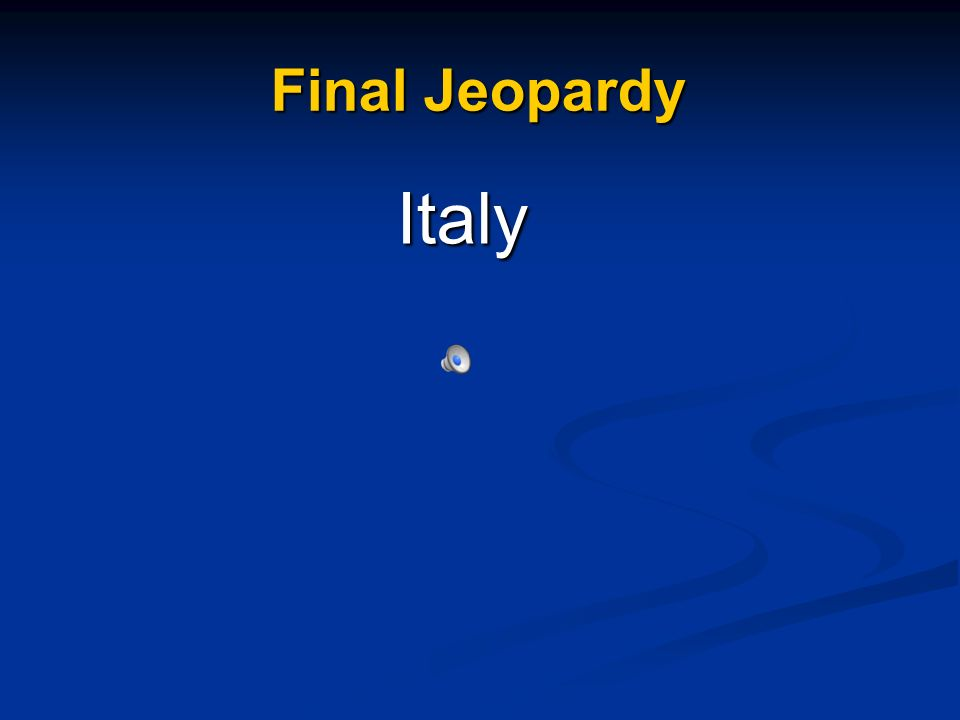 Final Jeopardy Italy