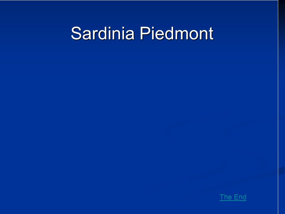 Sardinia Piedmont The End