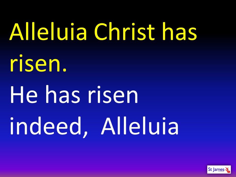 Alleluia Christ has risen.