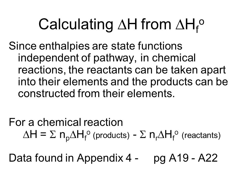 CalculatingH from Hfo