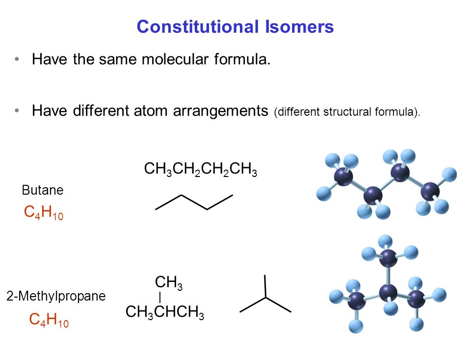 Constitutional Isomers