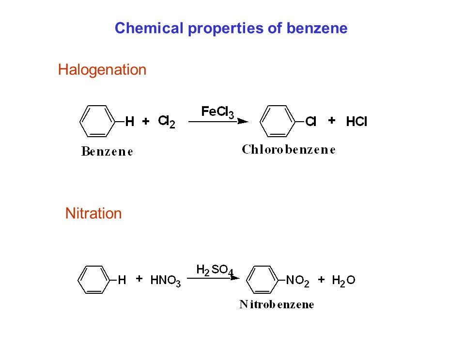 Chemical properties of benzene