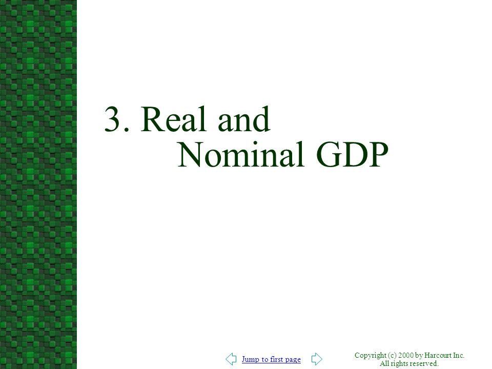 3. Real and Nominal GDP