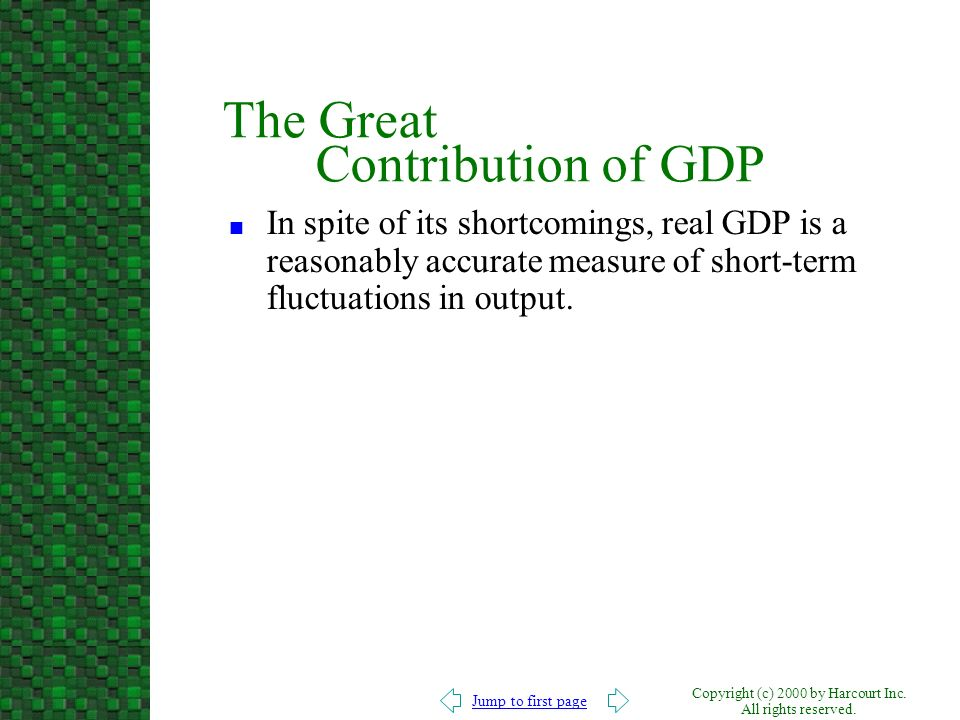 The Great Contribution of GDP