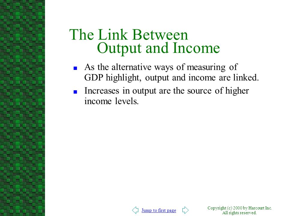 The Link Between Output and Income