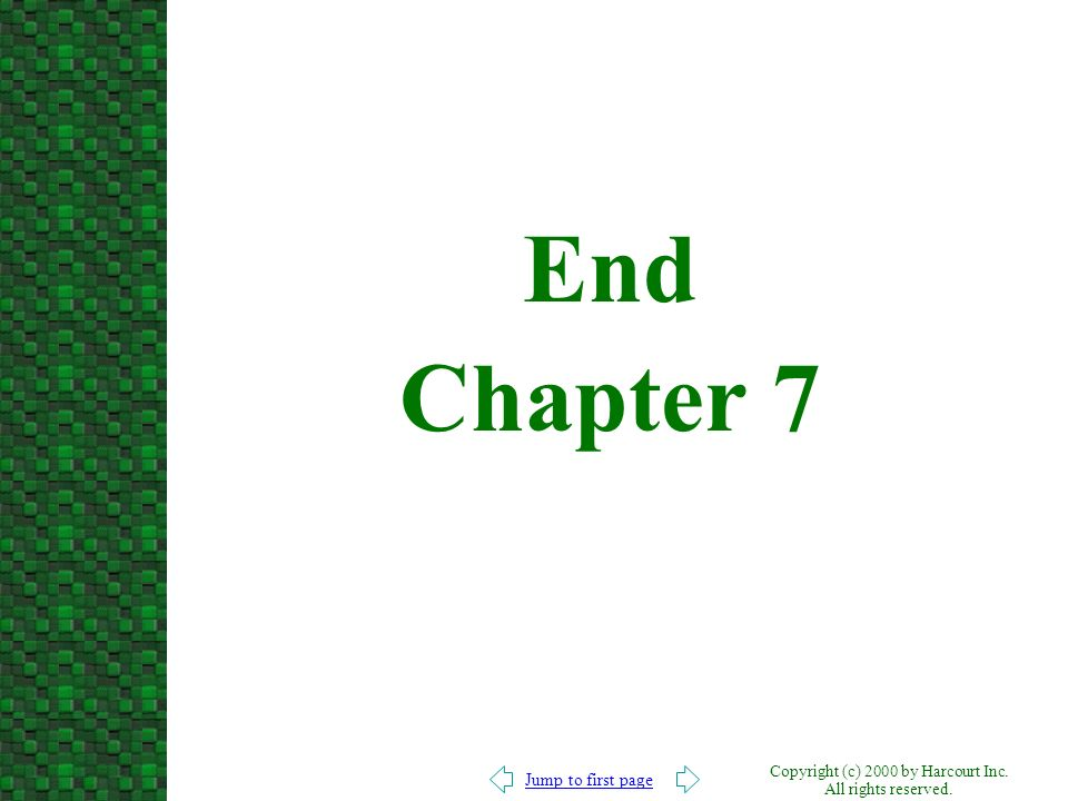 End Chapter 7