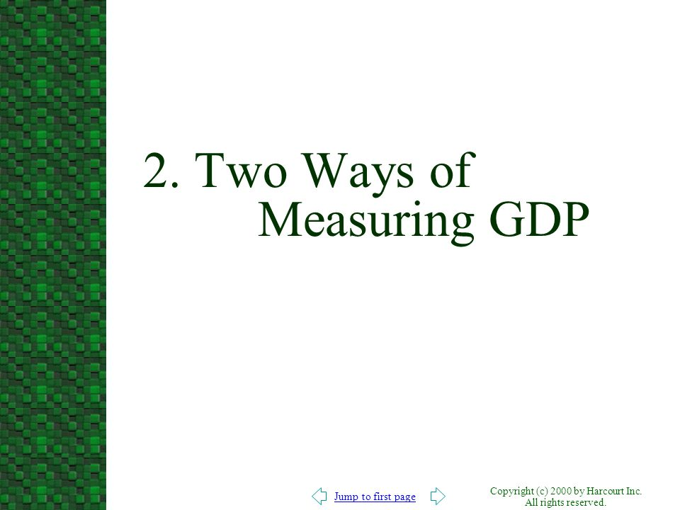 2. Two Ways of Measuring GDP
