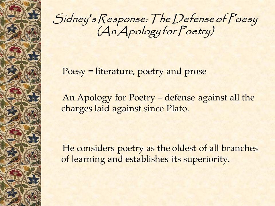 defense of poesy