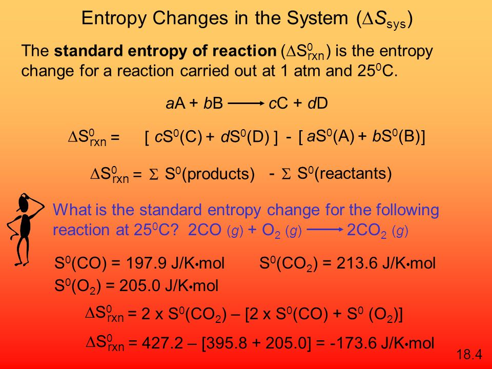 Entropy Changes in the System (DSsys)